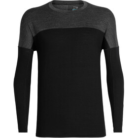 Icebreaker Kinetica - T-shirt manches longues running Homme - gris/noir